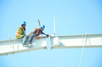 结构件40万吨项目现场