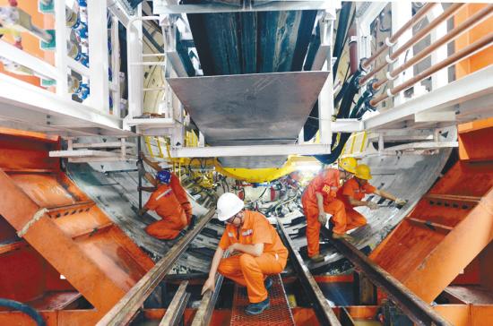 沈陽首條盾構法施工地下管廊盾構成功始發