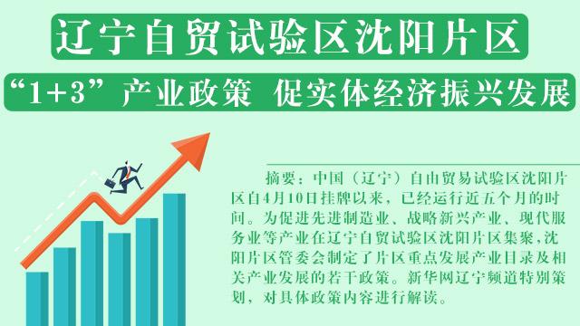 """""""1+3""""産業政策 促實體經濟振興發展"""