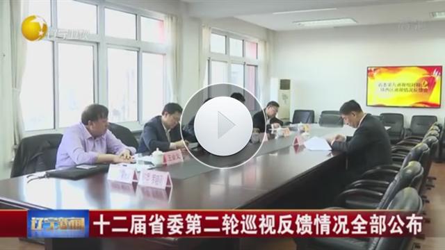十二屆遼寧省委第二輪巡視反饋情況全部公布