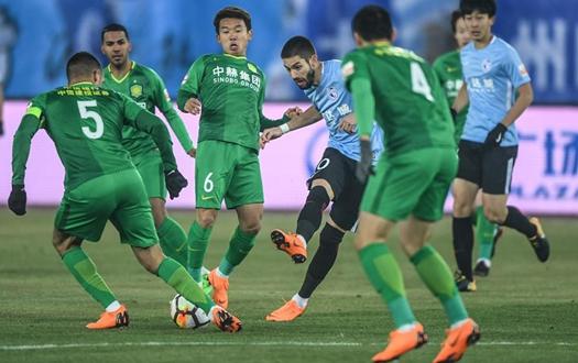中超聯賽:大連一方負于北京中赫國安