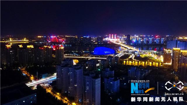 夜宿盛京城 航拍夜幕下的沈阳