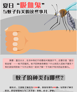 """夏日""""吸血鬼"""" 與蚊子有關的這些事兒"""