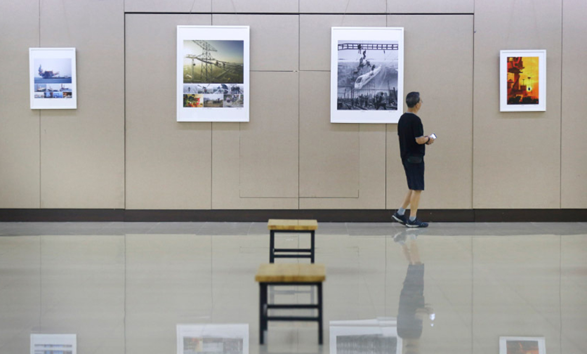 """""""紀念中國改革開放四十周年 全國工業攝影精品展""""在沈陽展出"""