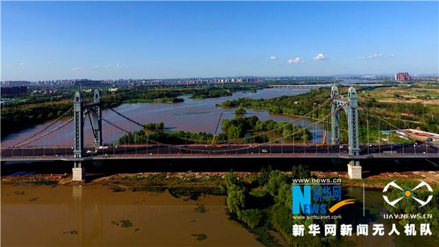 听,建筑在诉说丨航拍沈阳东塔跨浑河桥