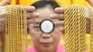 【視頻】國內金價現低谷 金店又見購金熱