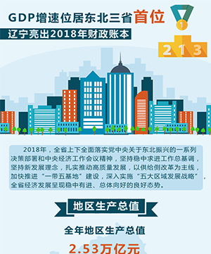 GDP增速位居東北三省首位 遼寧亮出2018年財政賬本
