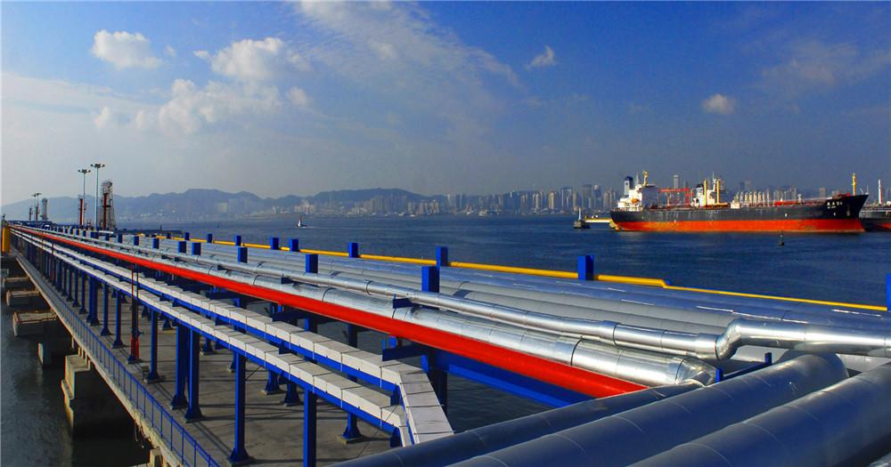 大連石化港務新碼頭管排