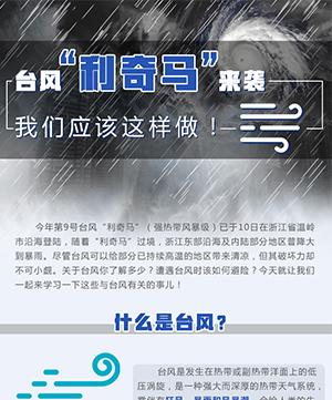 """臺風""""利奇馬""""來襲 我們應該這樣做!"""