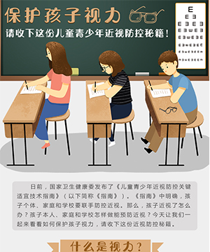 保護孩子視力,請收下這份兒童青少年近視防控秘籍!