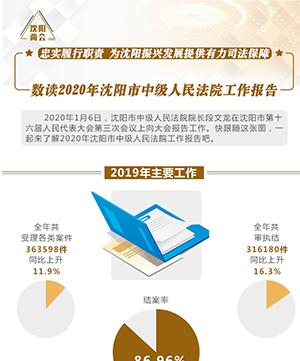 數讀2020年沈陽市中級人民法院工作報告