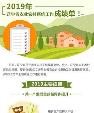 2019年遼寧省農業農村係統工作成績單!