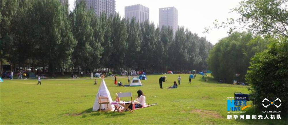 沈陽市民享受夏日時光