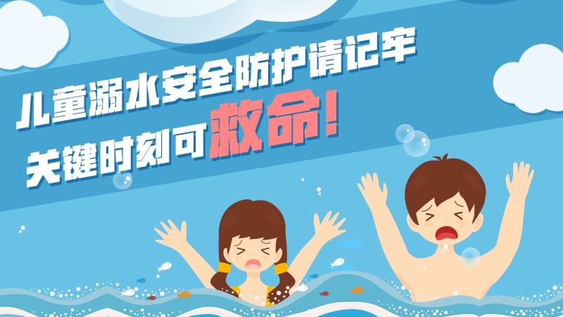 兒童溺水安全防護請記牢,關鍵時刻可救命!
