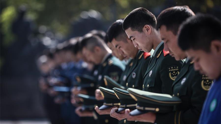 遼寧省暨沈陽市舉行向烈士敬獻花籃儀式