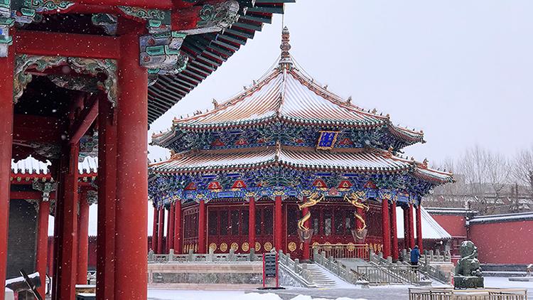 白雪、紅墻、黛瓦 沈陽故宮雪景圖上新!