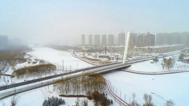 """【""""飛閱""""中國】俯瞰雪中的沈北新區"""